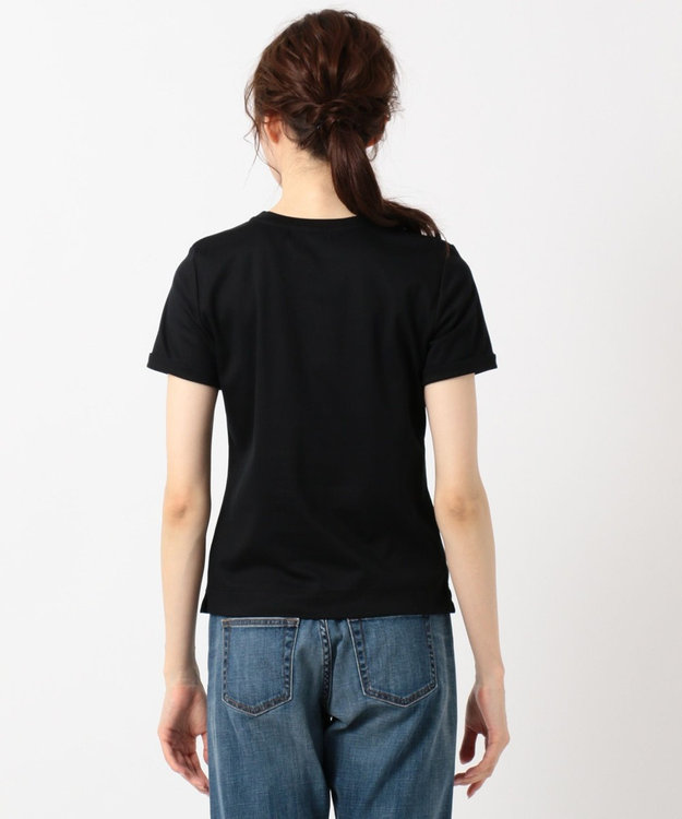 組曲 S 【洗える】ハイゲージスムース コンパクト刺繍Tシャツ