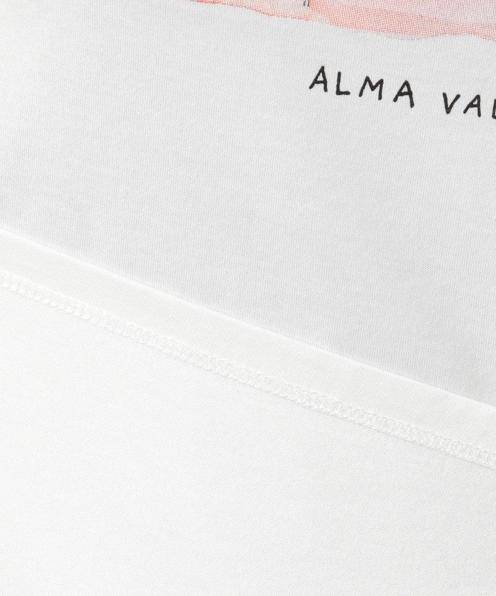 組曲 S 【洗える】アーティストコラボTシャツ Alma ホワイト系