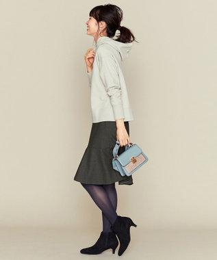 組曲 L 【人気商品再入荷!】スエードタッチパーカー ライトグレー系
