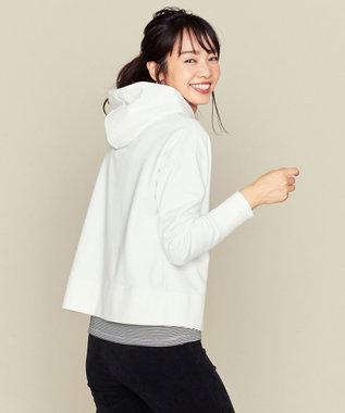 組曲 L 【人気商品再入荷!】スエードタッチパーカー ホワイト系