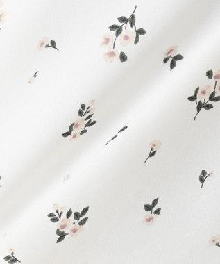 組曲 【洗える】ジョーゼットプリント ブラウス アイボリー系5