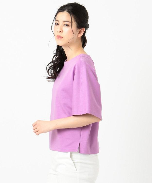 組曲 L 【洗える】コンパクトスーピマポンチ カットソー