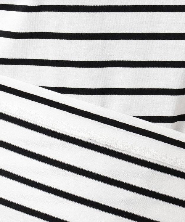 組曲 【洗える】コンパクトコットン天竺 シンプルロゴTシャツ