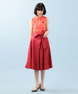 組曲 【Rythme KUMIKYOKU】ポロカノコ アメリカンスリーブポロ オレンジ系