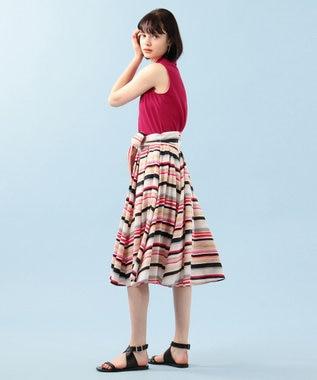 組曲 【Rythme KUMIKYOKU】ポロカノコ アメリカンスリーブポロ ピンク系