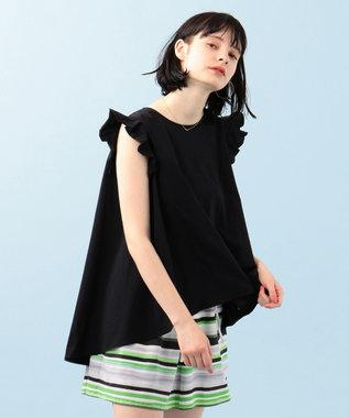 組曲 【Rythme KUMIKYOKU】ドレープ Tシャツ ブラック系