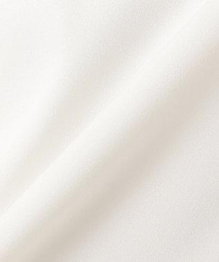 組曲 L 【洗える】マルチストライププリントVネック ブラウス アイボリー系