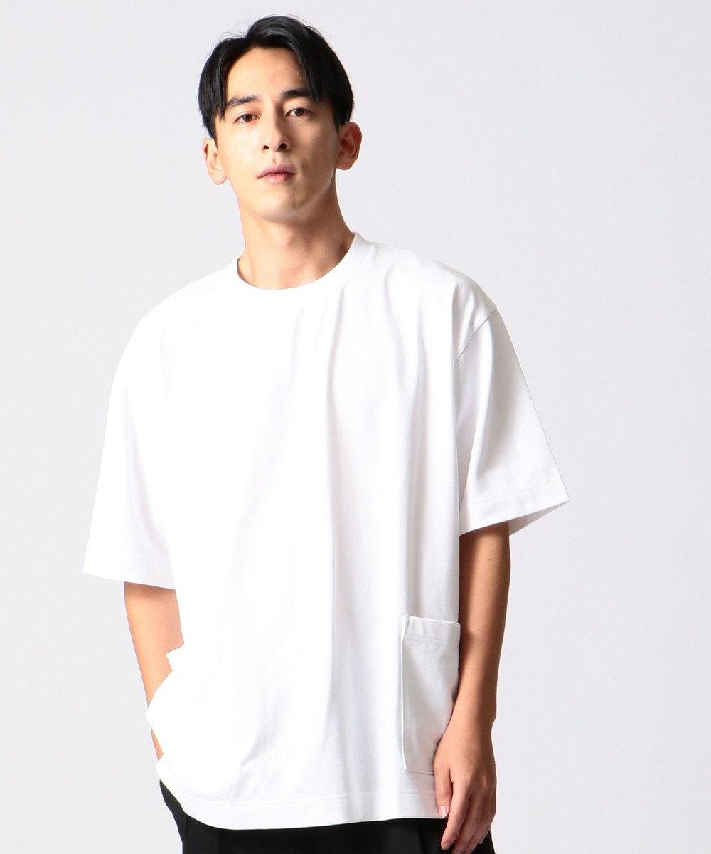 J.PRESS YORK STREET 【UNISEX】MVS天竺 Tシャツ ホワイト系