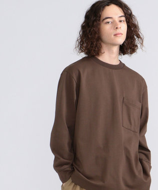J.PRESS YORK STREET 【UNISEX】MVS天竺 ロングTシャツ ブラウン系