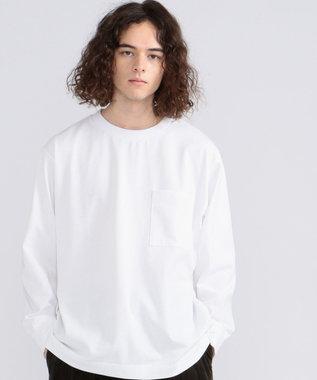 J.PRESS YORK STREET 【UNISEX】MVS天竺 ロングTシャツ ホワイト系