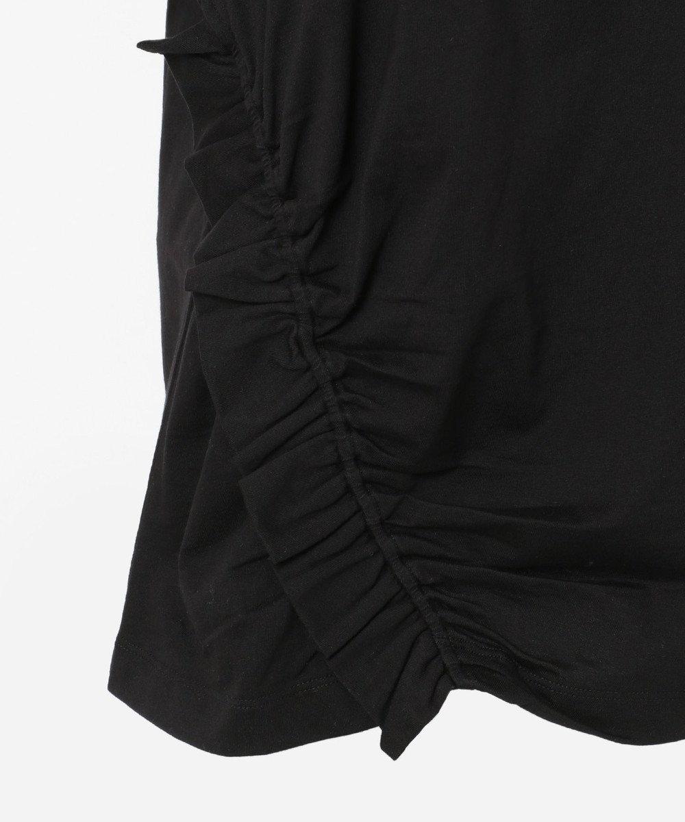 CK CALVIN KLEIN WOMEN 【2019SS インポート企画】ソフトジャージーシャーリング使い Tシャツ ブラック系