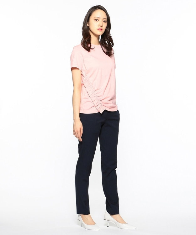 CK CALVIN KLEIN WOMEN 【2019SS インポート企画】ソフトジャージーシャーリング使い Tシャツ