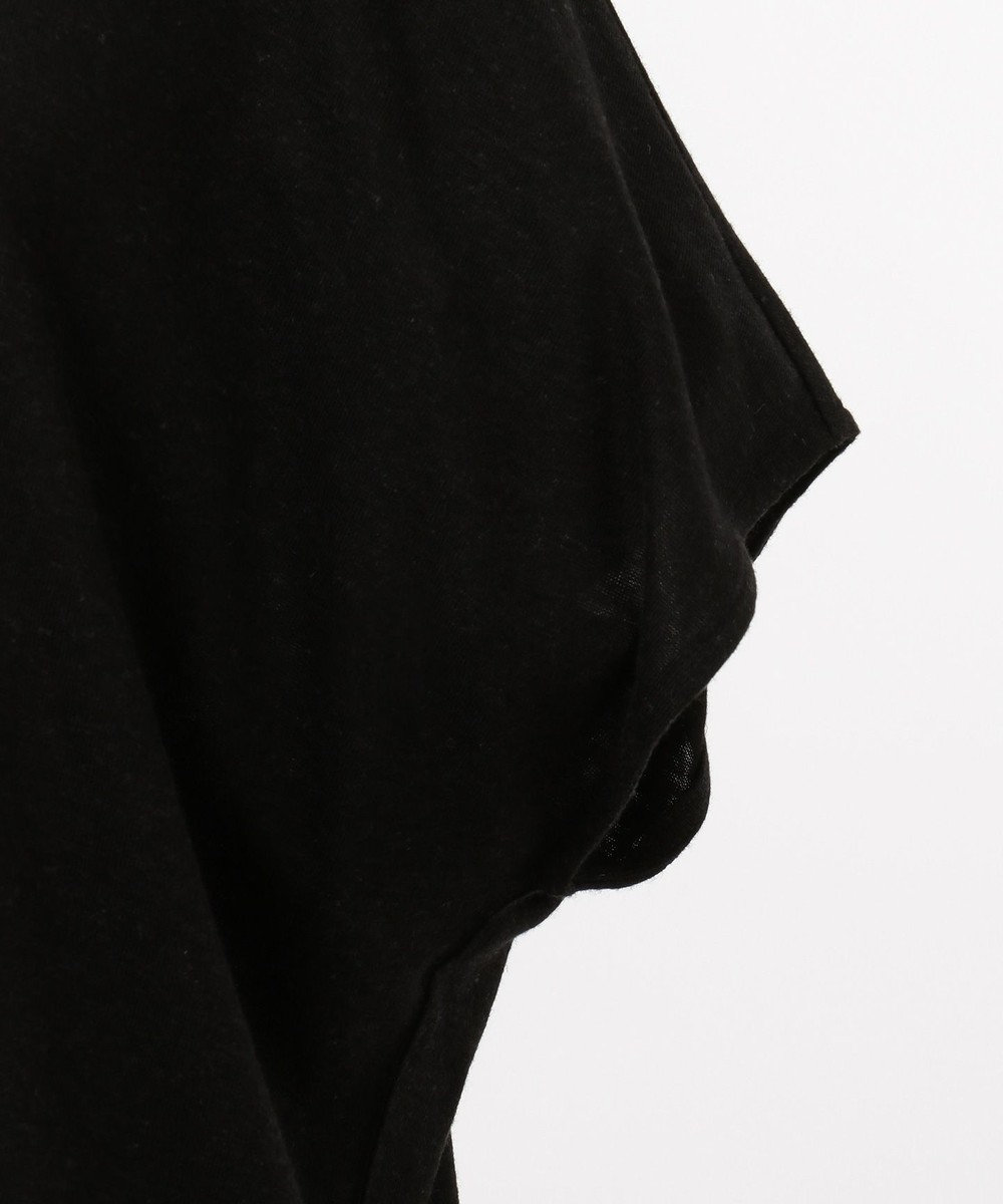 CK CALVIN KLEIN WOMEN 【2019SS インポート企画】ヴィスコースリネンジャージー カットソー ブラック系
