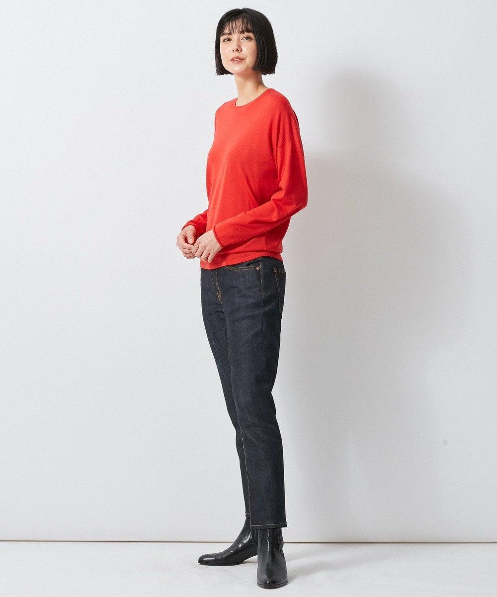 23区 L 【中村アンさんコラボ】サスティナブルウール ニット オレンジ系