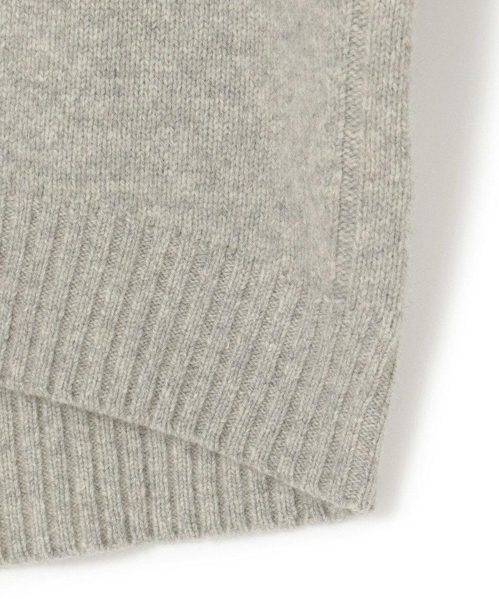 ICB 【マガジン掲載】Soft Cashmere Mix ハイネックニット(番号CL24) ライトグレー