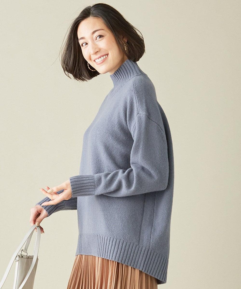 ICB 【マガジン掲載】Soft Cashmere Mix ハイネックニット(番号CL24) ダルブルー