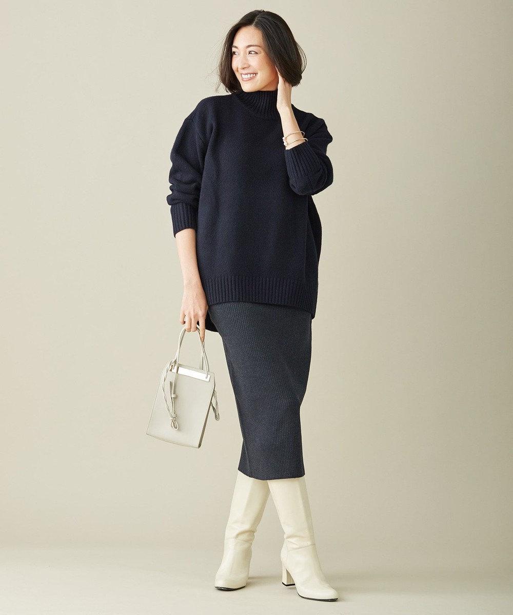 ICB 【マガジン掲載】Soft Cashmere Mix ハイネックニット(番号CL24) ネイビー