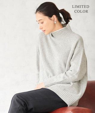 ICB 【マガジン掲載】Soft Cashmere Mix ハイネックニット(番号CL24) ライトグレー系[限定]
