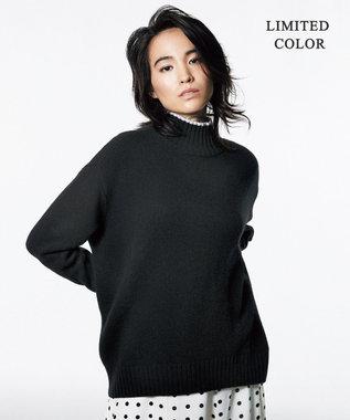 ICB 【マガジン掲載】Soft Cashmere Mix ハイネックニット(番号CL24) ブラック系[限定]