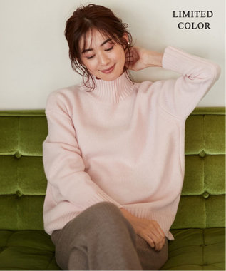 ICB 【マガジン掲載】Soft Cashmere Mix ハイネックニット(番号CL24) ピンク[WEB限定]