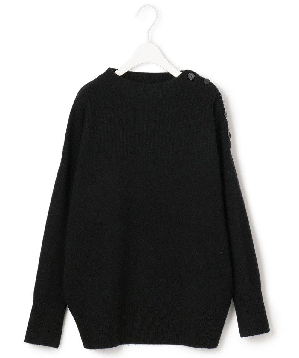 ICB 【マガジン掲載】Soft Cashmere Mix ボタンニット(番号CL32) ブラック