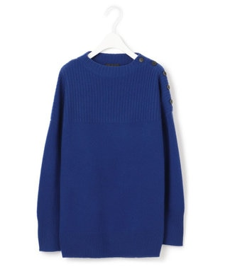 ICB 【マガジン掲載】Soft Cashmere Mix ボタンニット(番号CL32) ブルー