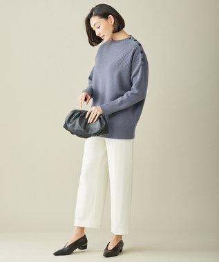 ICB 【マガジン掲載】Soft Cashmere Mix ボタンニット(番号CL32) ダルブルー