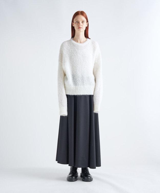 ATON 【WEB LIMITED】MOHAIR SHAGGY / クルーネックセーター