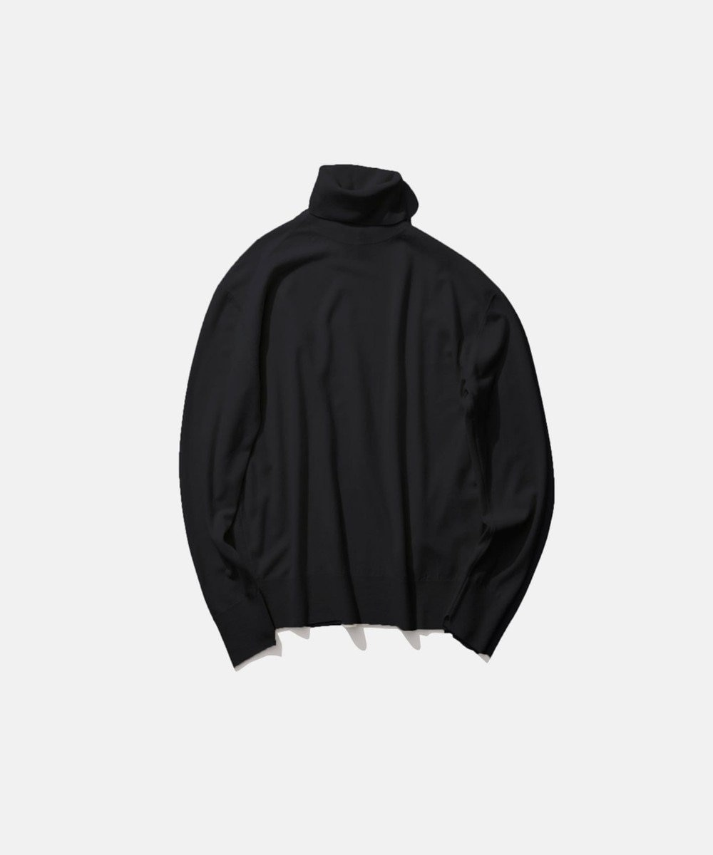 ATON MAT WOOL / タートルネックセーター(UNISEX) BLACK