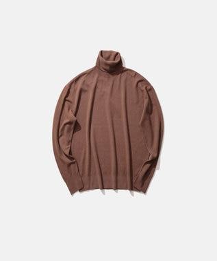 ATON MAT WOOL / タートルネックセーター(UNISEX) CAMEL
