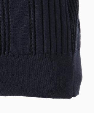 CK CALVIN KLEIN MEN 【洗える】グラデーションメッシュリブ ニット ポロシャツ ネイビー系