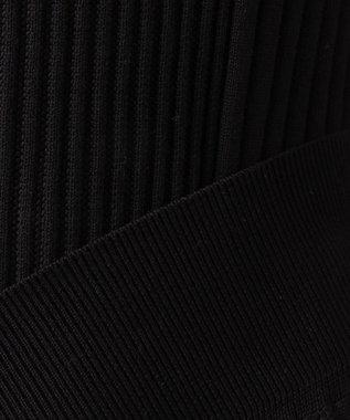 CK CALVIN KLEIN MEN 【定番人気】コットンリンクスリブ ZIP カーディガン ブラック系