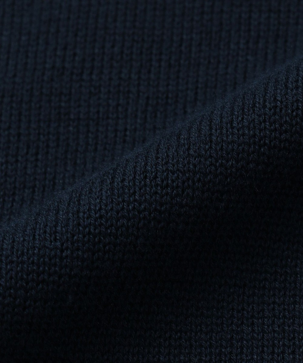 CK CALVIN KLEIN MEN 【NY企画】スーピマコットン ストライプインターシャ ニット ブルー系