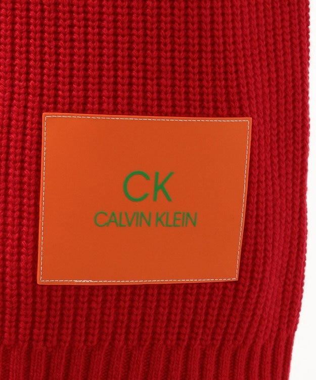 CK CALVIN KLEIN MEN 【Safari掲載】ウールナイロンロゴパッチ ニット