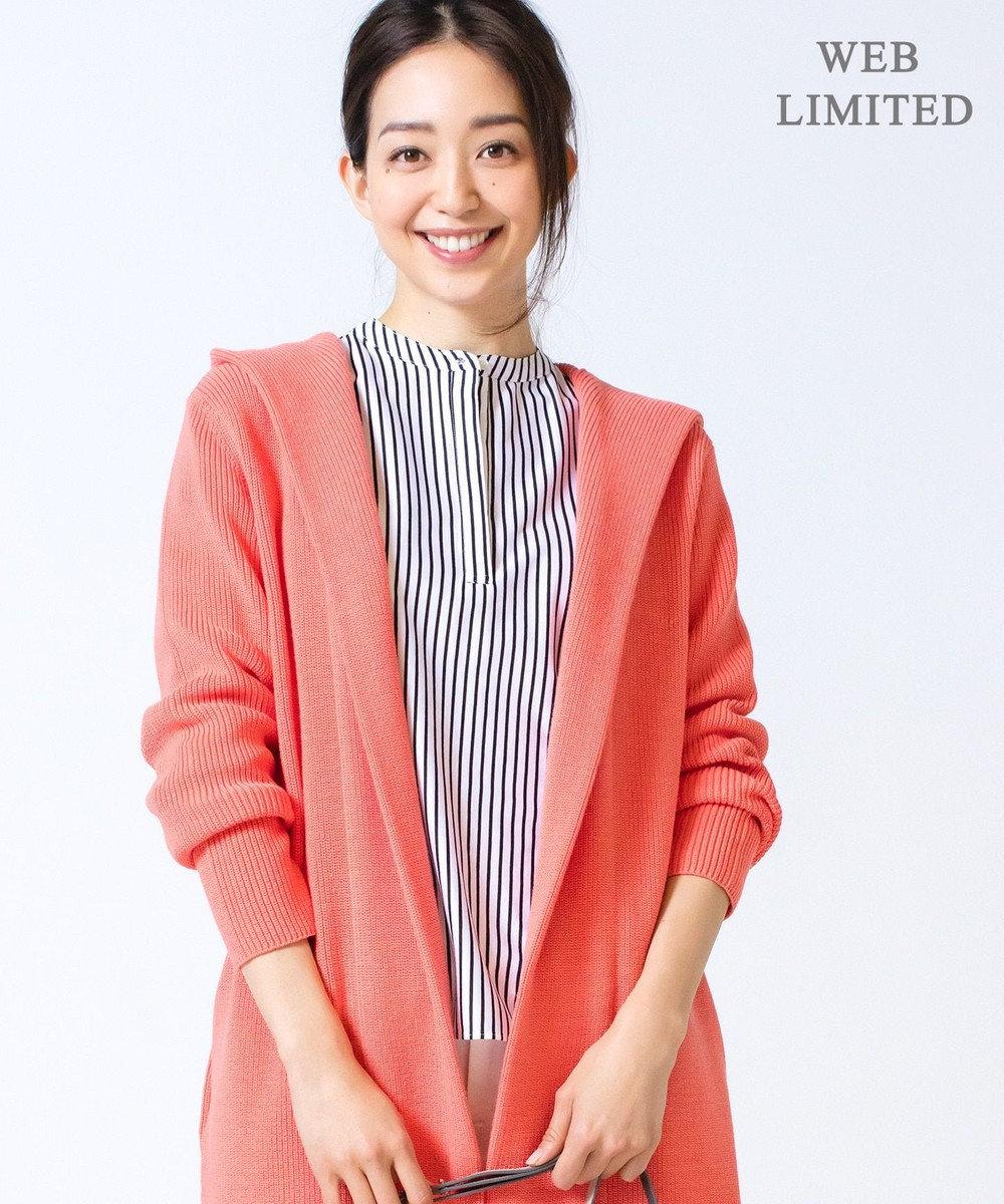 ICB L 【2019春のWEB限定カラー】Compact Air Cotton カーディガン 【WEB限定】オレンジ系