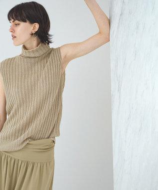 BEIGE, KAITILE / オフタートルニット Flax