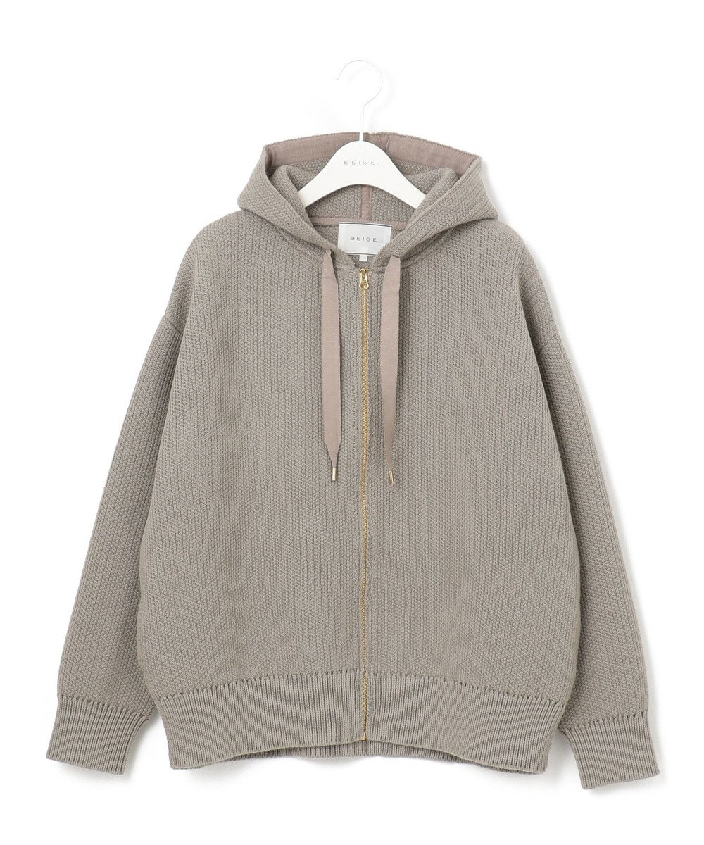 BEIGE, BOOT / ニットパーカー Taupe