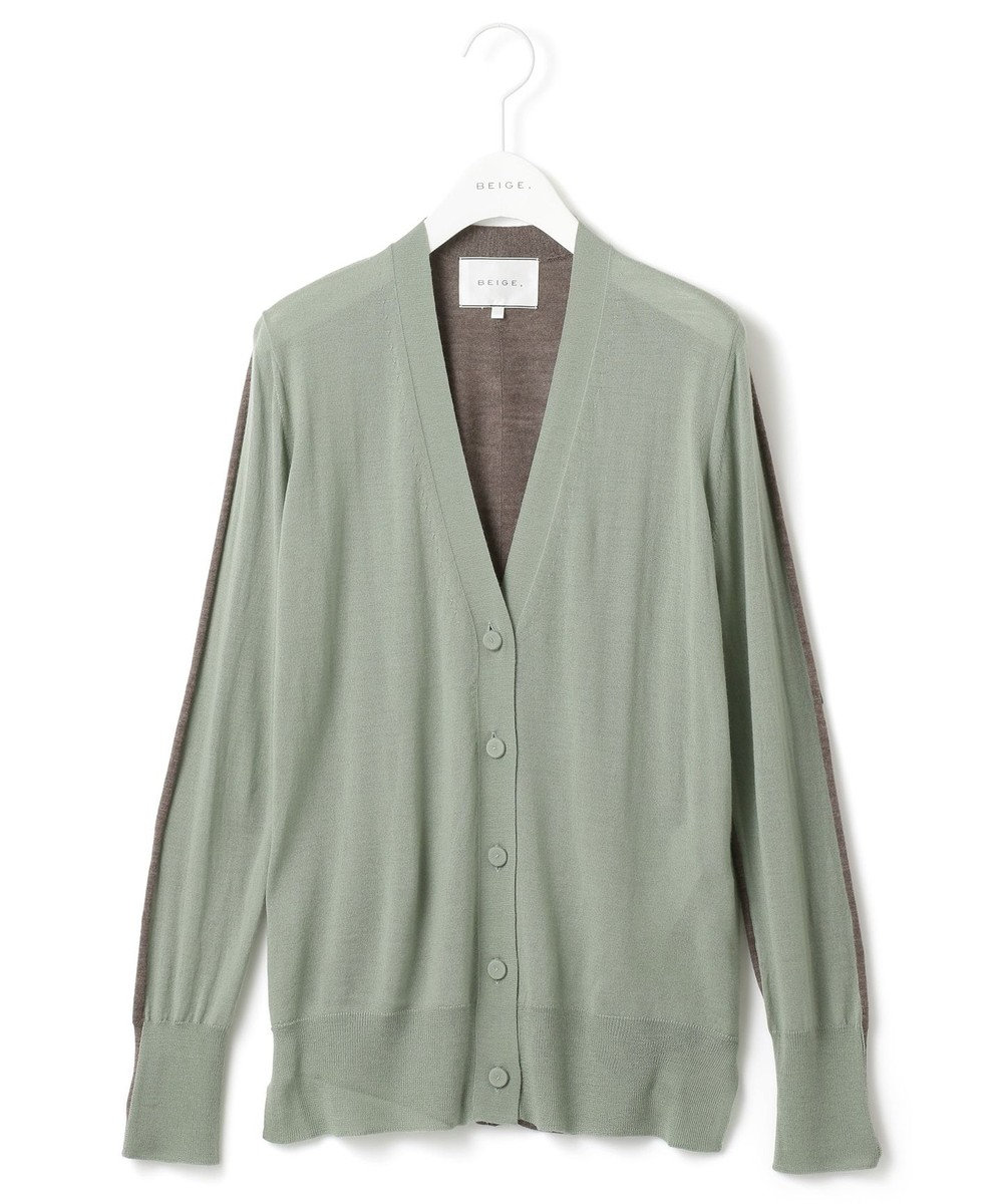 BEIGE, KEITH / カーディガン Sage×Taupe