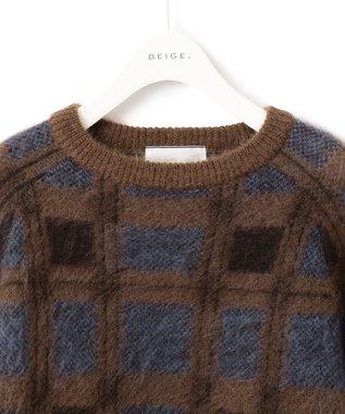 BEIGE, PENDEEN / ニット Brown Check