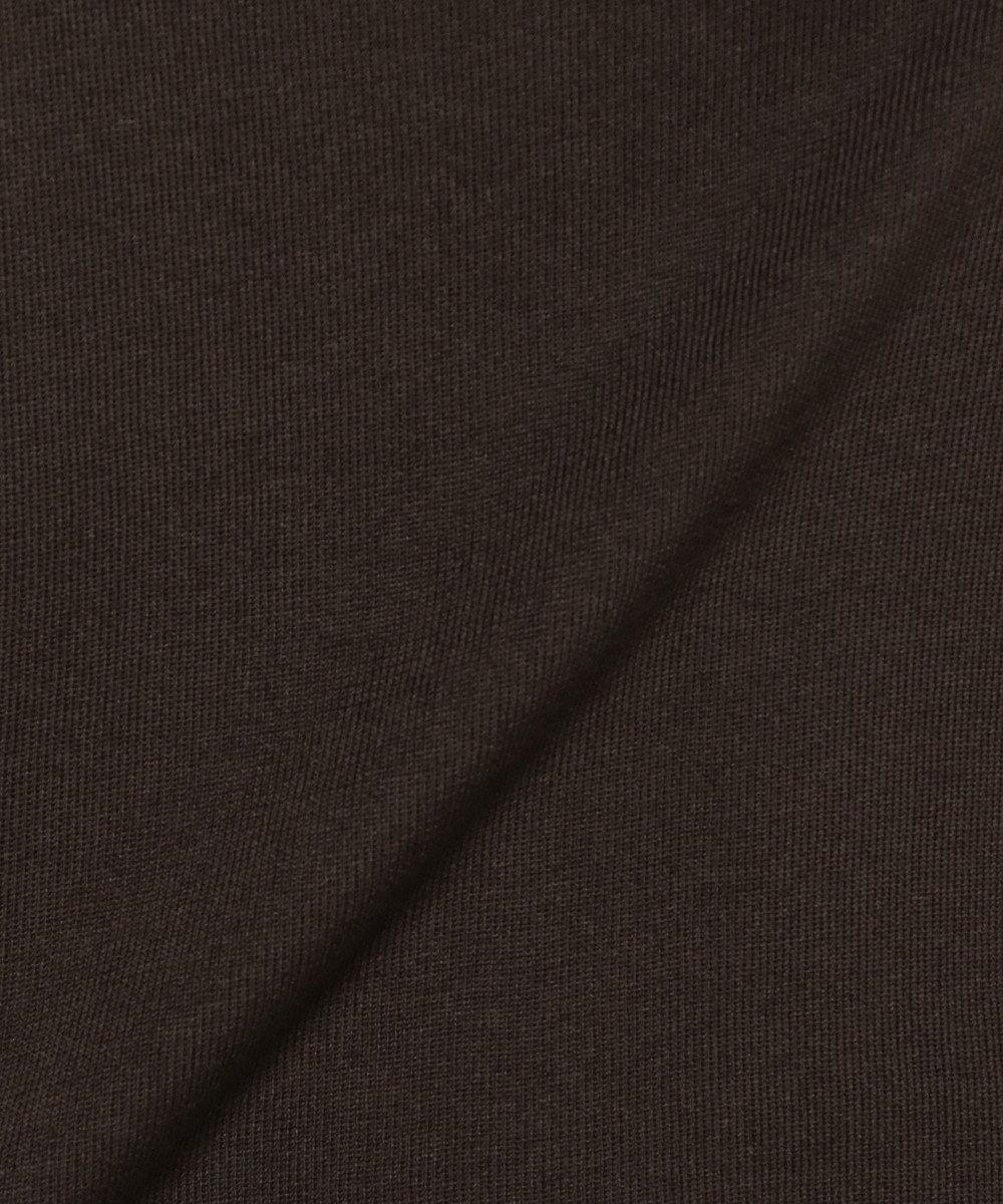 BEIGE, INVER / ニットポロシャツ ダークブラウン系