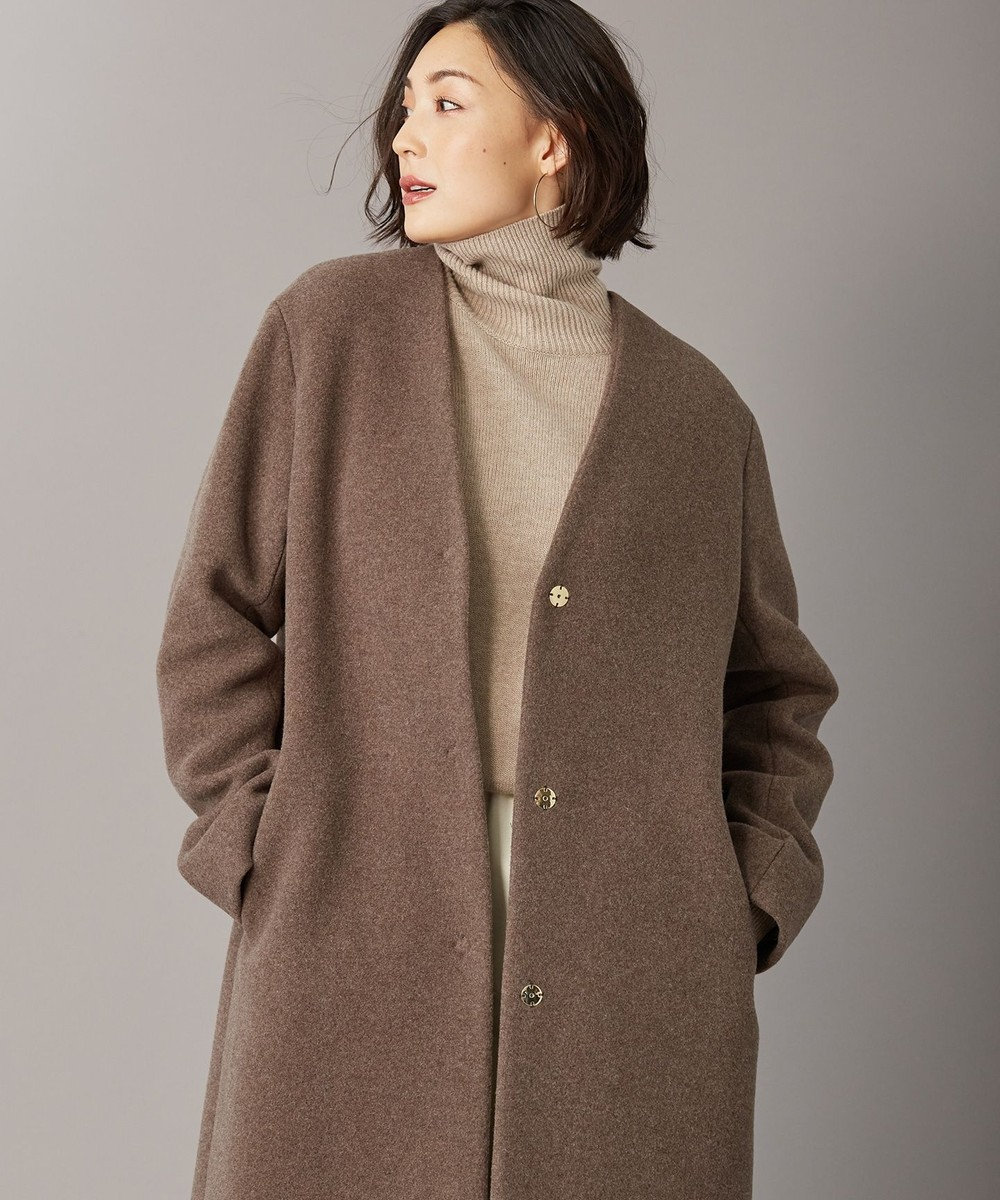 BEIGE, 【S-size】ENSIS / ハイネックニット Taupe