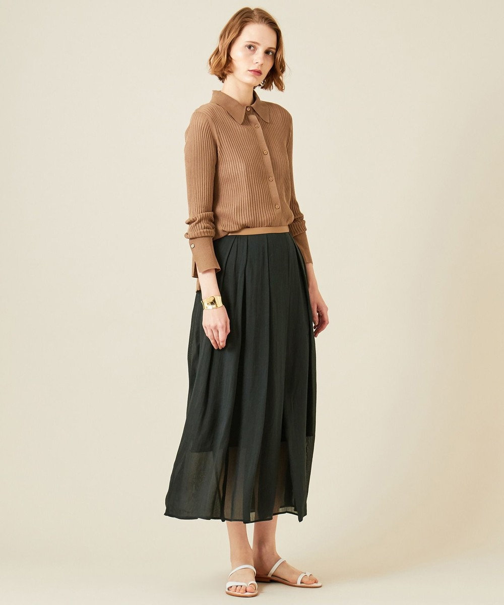 BEIGE, 【S-size】【VERY NAVY 4月号掲載】VICHY / ニットシャツ Ocher x Ocher
