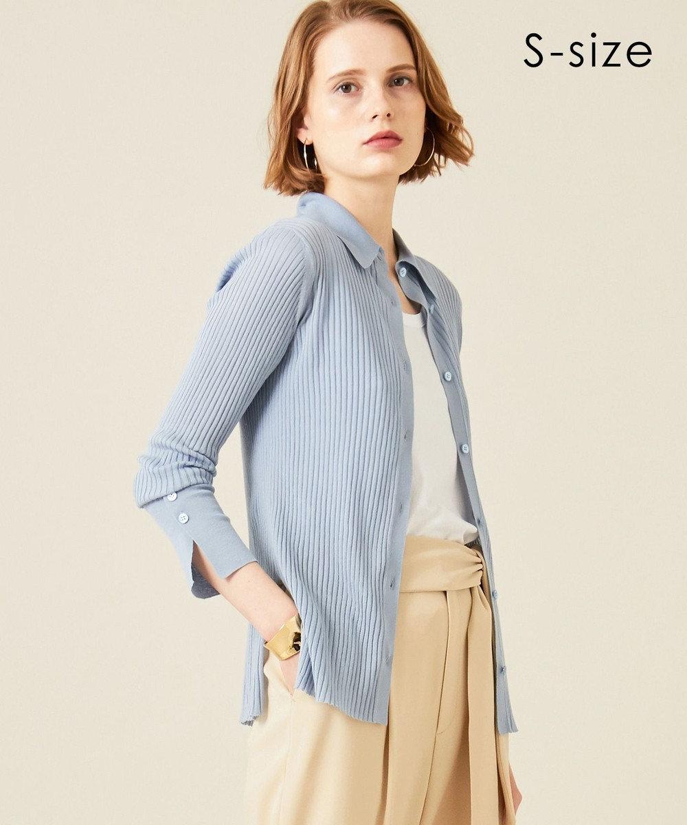BEIGE, 【S-size】【VERY NAVY 4月号掲載】VICHY / ニットシャツ Sky x Ocher
