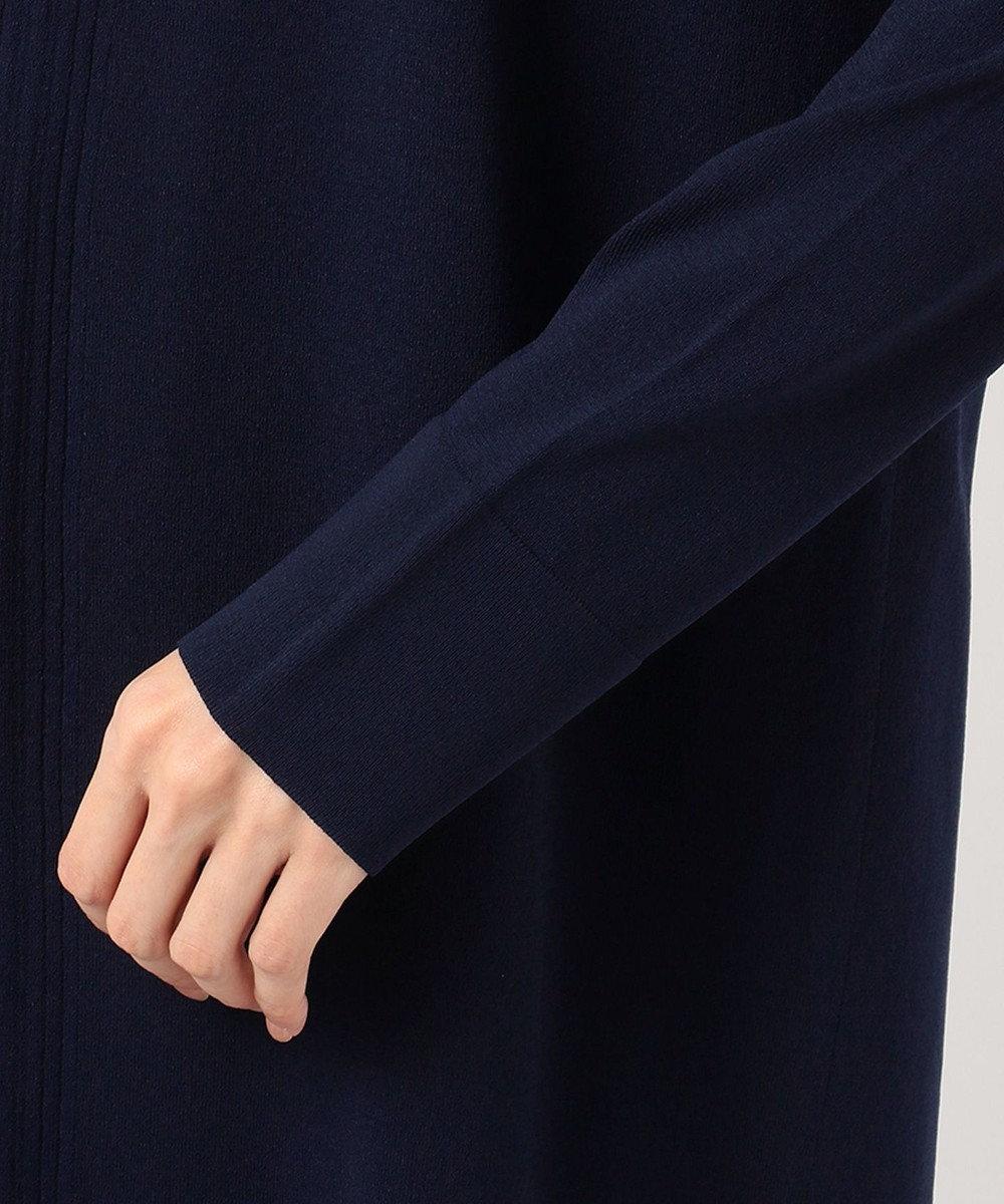 ICB L 【接触冷感】Synthetic Stretch ロングカーディガン ネイビー系