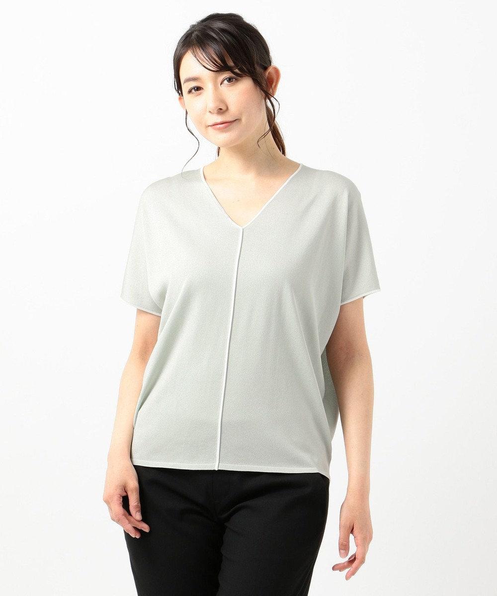 ICB 【WEB限定カラー】Synthetic Yarn 半袖ニット ミント系