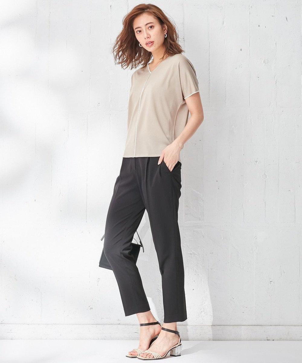 ICB 【WEB限定カラー】Synthetic Yarn 半袖ニット [限定]ベージュ系