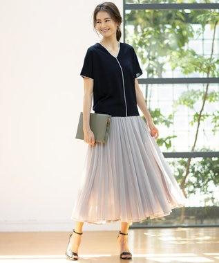 ICB 【WEB限定カラー】Synthetic Yarn 半袖ニット ブラック系