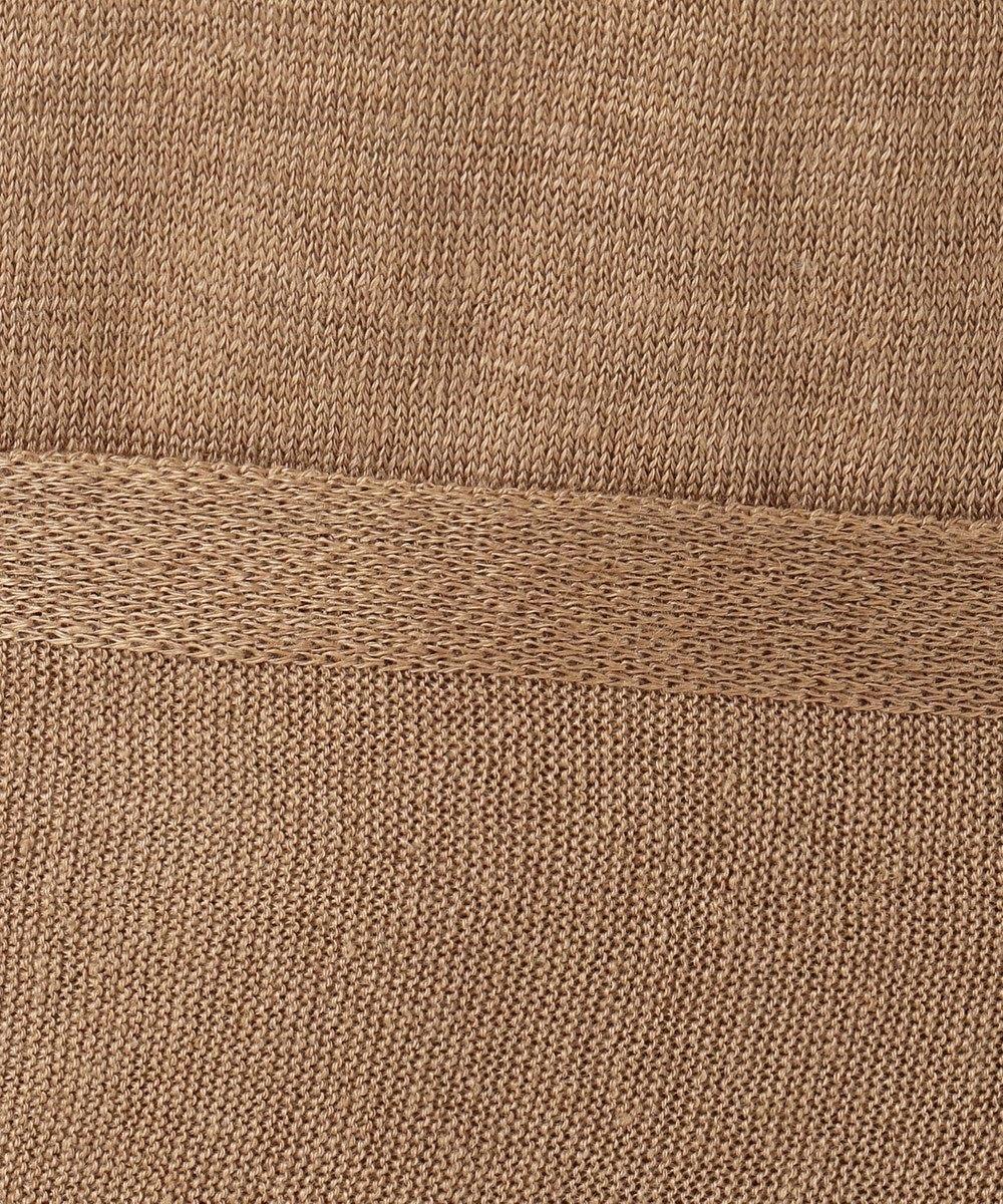 ICB L Linen スリットワンピース ブラウン系