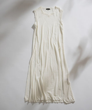ICB L Linen スリットワンピース ホワイト系