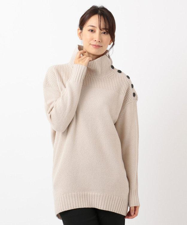 ICB L 【ニット人気投票第1位】Soft Cashmere Mix ボタンニット